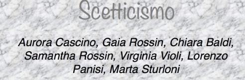 scetticismo