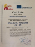 Certificate English for teachers (A2-B1)